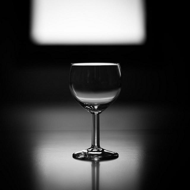 Taça de vinho vazia